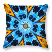 Kaleidoscope Canoes Throw Pillow