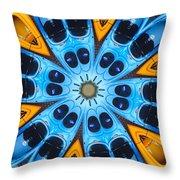 Kaleidoscope Canoes Throw Pillow