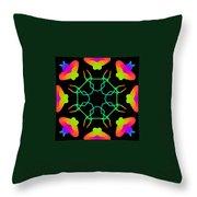 Kaleidoscope Drawing Throw Pillow