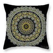 Kaleidoscope Ernst Haeckl Sea Life Series Steampunk Feel Throw Pillow