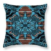 Kaleidoscope Flower 2 Throw Pillow