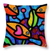 Kaleidoscope Reef Throw Pillow by Steven Scott