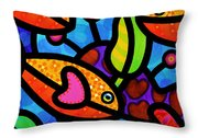 Kaleidoscope Reef Throw Pillow