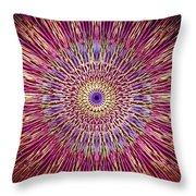 Kaleidoscope Retro  Throw Pillow