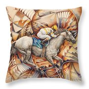 Kaleidoscope Rider Throw Pillow