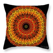 Kaleidoscope Stained Glass Window Series Throw Pillow