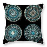 Kaleidoscope Steampunk Series Montage Throw Pillow