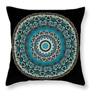 Kaleidoscope Steampunk Series Triptych Throw Pillow by Amy Cicconi