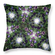 Kaleidoscope Violets 2 Throw Pillow