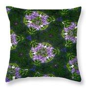 Kaleidoscope Violets Throw Pillow