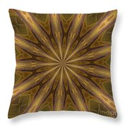 Kaleidoscope With Gold Throw Pillow