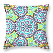 Kaleidoscopic Whimsy Throw Pillow