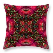 Kaleidscope Made From Image Of Coleus Plant Throw Pillow