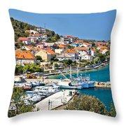 Kali Small Fishermen Town Harbor Throw Pillow