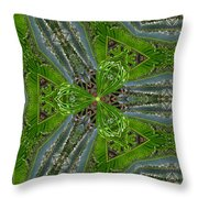 Kalido Plant Fronds Throw Pillow