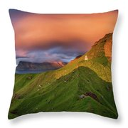 Kalsoy Island And Kallur Lighthouse Throw Pillow