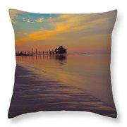 Kamalame Beach Throw Pillow