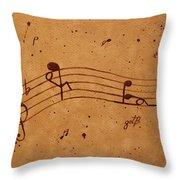 Kamasutra Abstract Music 2 Coffee Painting Throw Pillow