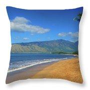 Kamole Beach Kihei Maui Hawaii Throw Pillow