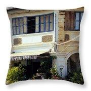 Kampot Epic Arts Cafe Throw Pillow