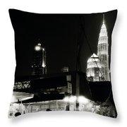 Kampung Baru Petronas Towers Throw Pillow