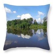 Kanaka Creek Rising - Maple Ridge, British Columbia Throw Pillow