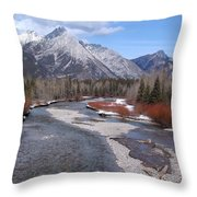 Kananaskis River Throw Pillow