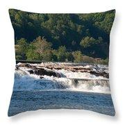 Kanawah Falls I - Spring Throw Pillow