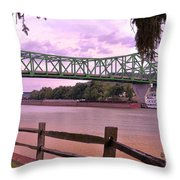 Kanawha River  Throw Pillow