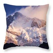 Kanchenjunga From  Goecha La  Throw Pillow