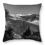 Kanchenjunga Monochrome Throw Pillow