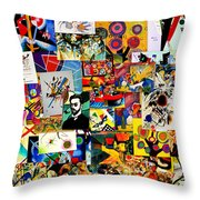 Kandisky Collage Throw Pillow