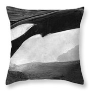 Kandu Orca Seattle Aquarium 1969 Pat Hathaway Photo Killer Whale Seattle Throw Pillow