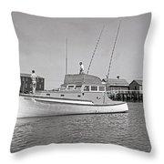 Kandy Of Barnstable Harbor 1950's Throw Pillow