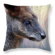Kangaroo Potrait Throw Pillow