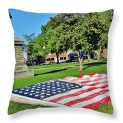 Kankakee Union Soldiers Memorial Throw Pillow