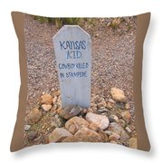 Kansa Kid Killed In A Stampede Throw Pillow