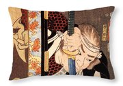 Kansaki - Noriyasu Throw Pillow by Pg Reproductions