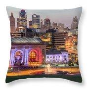 Kansas City 2 Throw Pillow