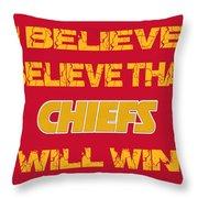 Kansas City Chiefs I Believe Throw Pillow