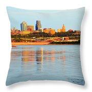 Kansas City Downtown From Kaw Point Throw Pillow