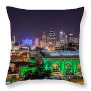 Kansas City In Lights Throw Pillow