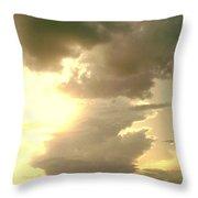 Kansas Clouds Throw Pillow