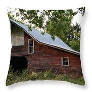 Kansas Hay Barn Throw Pillow