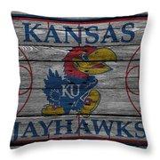 Kansas Jayhawks Throw Pillow