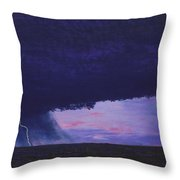 Kansas Lightning Storm Throw Pillow