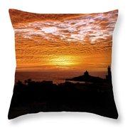 Kanyakumari Dawn Throw Pillow