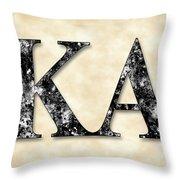 Kappa Alpha Society - Parchment Throw Pillow