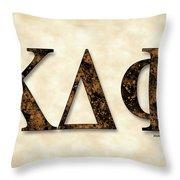 Kappa Delta Phi - Parchment Throw Pillow