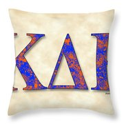 Kappa Delta Rho - Parchment Throw Pillow